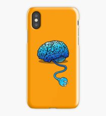Your Brain without Coffee - Blue iPhone Case/Skin