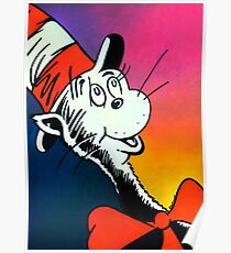 Portrait of Cat in the Hat Poster