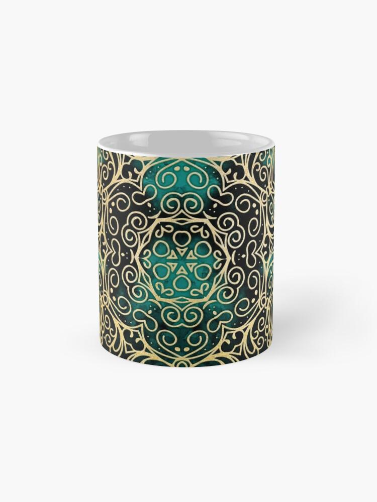 Alternate view of Gold & Dark Mandala Mug
