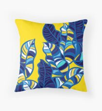 Pop foliage on Yellow Floor Pillow