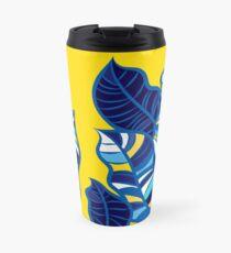 Pop foliage on Yellow Travel Mug