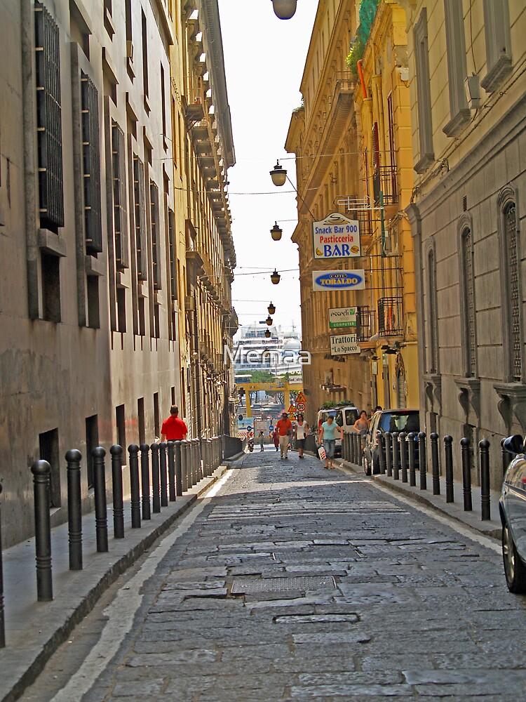 Side Street in Naples Italy by Memaa