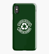 I support recycling iPhone Case/Skin