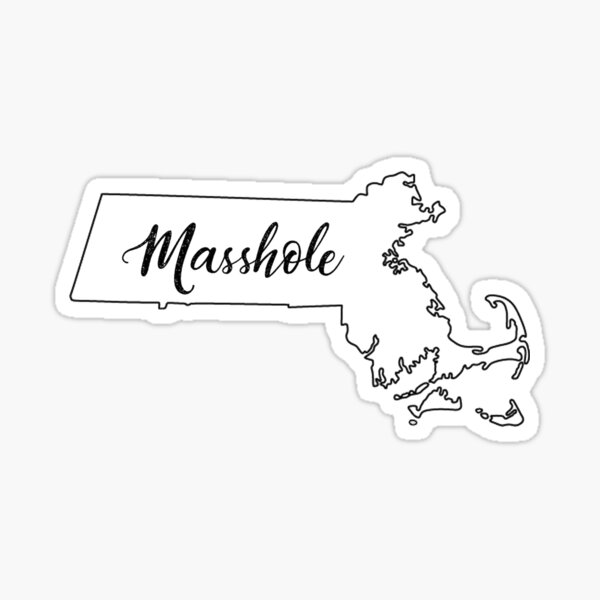 "State Outline - ""Masshole"" Sticker"