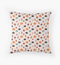 Autumn hedgehog Throw Pillow
