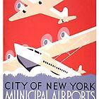 Weinlese New York Travel Poster von AllVintageArt