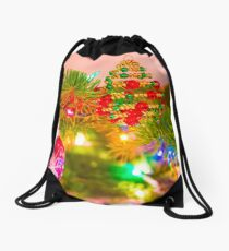 Beaded Bough Drawstring Bag