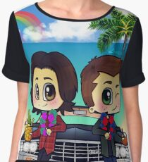 Winchesters in Hawaii Women's Chiffon Top
