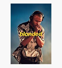 Frank Ocean Blonded Blonde Photographic Print