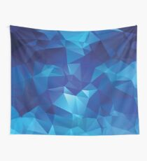 Cool dark blue traingle pattern Wall Tapestry