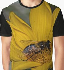 Yellow flower and bee - springtime Graphic T-Shirt
