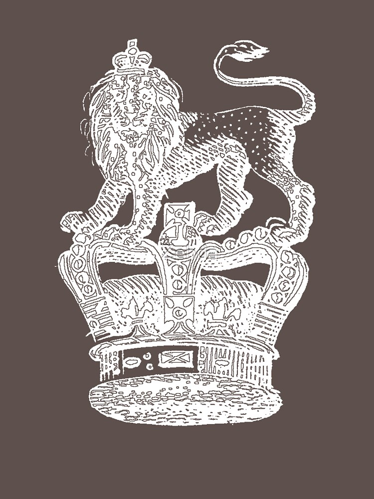 Lion & Crown Heraldry Blazon by Zehda