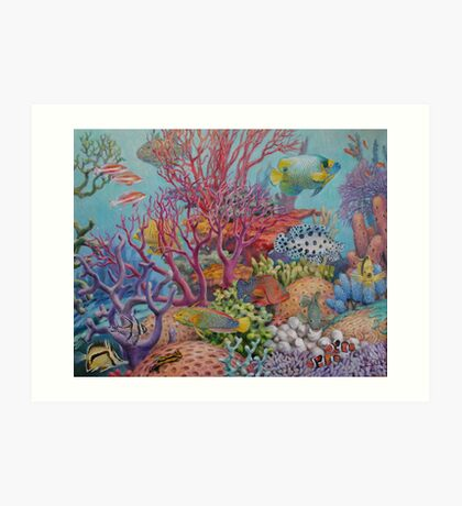 South Sea Reef Art Print