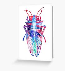 Pop Art Insect: Cicada Greeting Card