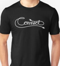 Via Link Cable (White on Black) T-Shirt