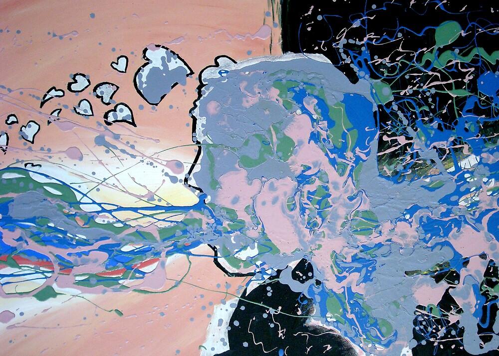 Abstract Self Portrait by Steven Novak