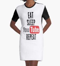 Vestido camiseta Comer, dormir, youtube, repetir