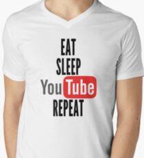 Eat, Sleep, Youtube, Repeat Men's V-Neck T-Shirt