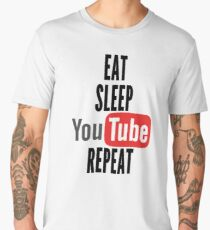 Eat, Sleep, Youtube, Repeat Men's Premium T-Shirt