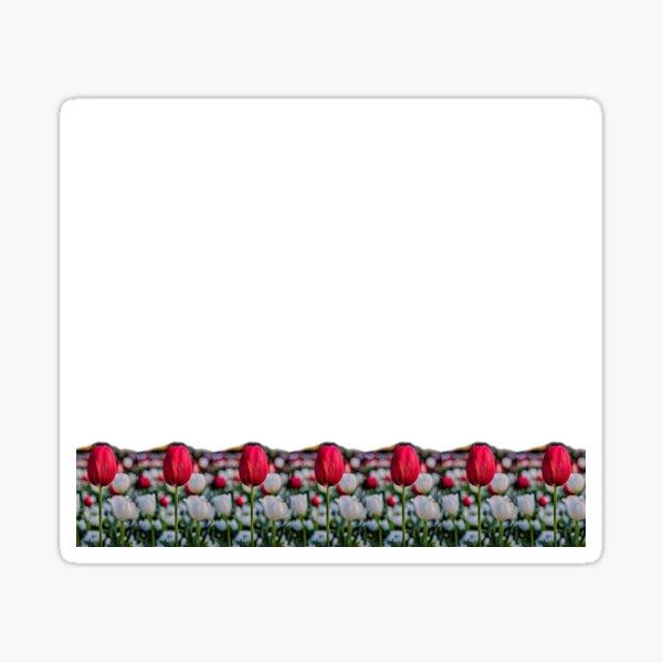 Red tulip streamline Sticker