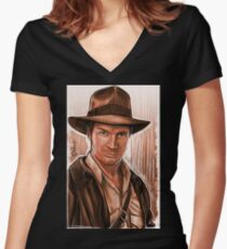 Indiana Fillion Women's Fitted V-Neck T-Shirt