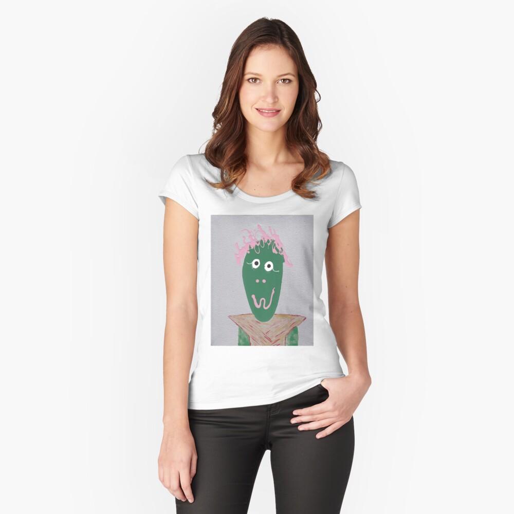 Devant T-shirt échancré femme ''Extra-terrestre- Martin Boisvert - Faces à flaques'