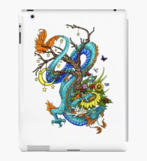 A Blue Dragon Around A Tree iPad Case/Skin