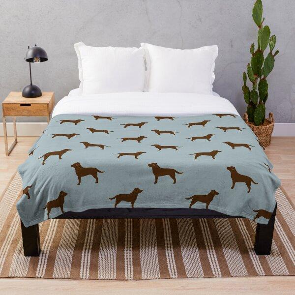 Chocolate Labrador Retriever Silhouette(s) Throw Blanket