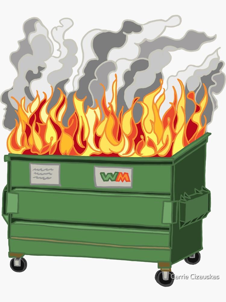 Dumpster Fire by cizauskas