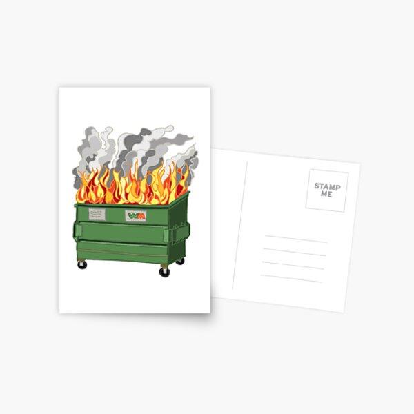 Dumpster Fire Postcard