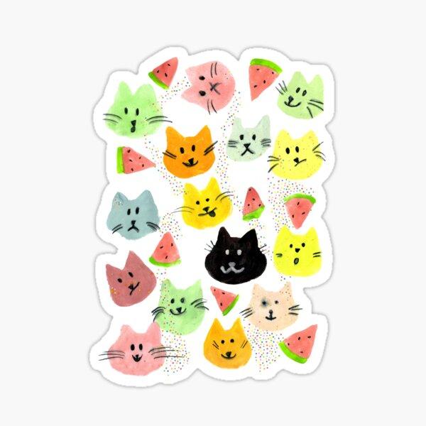 Kitty Melon Party Sticker