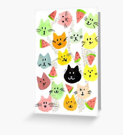 Kitty Melon Party Greeting Card