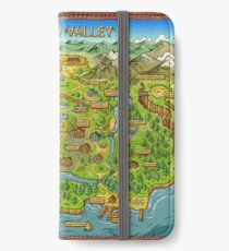 Stardew Valley Karte iPhone Flip-Case/Hülle/Skin