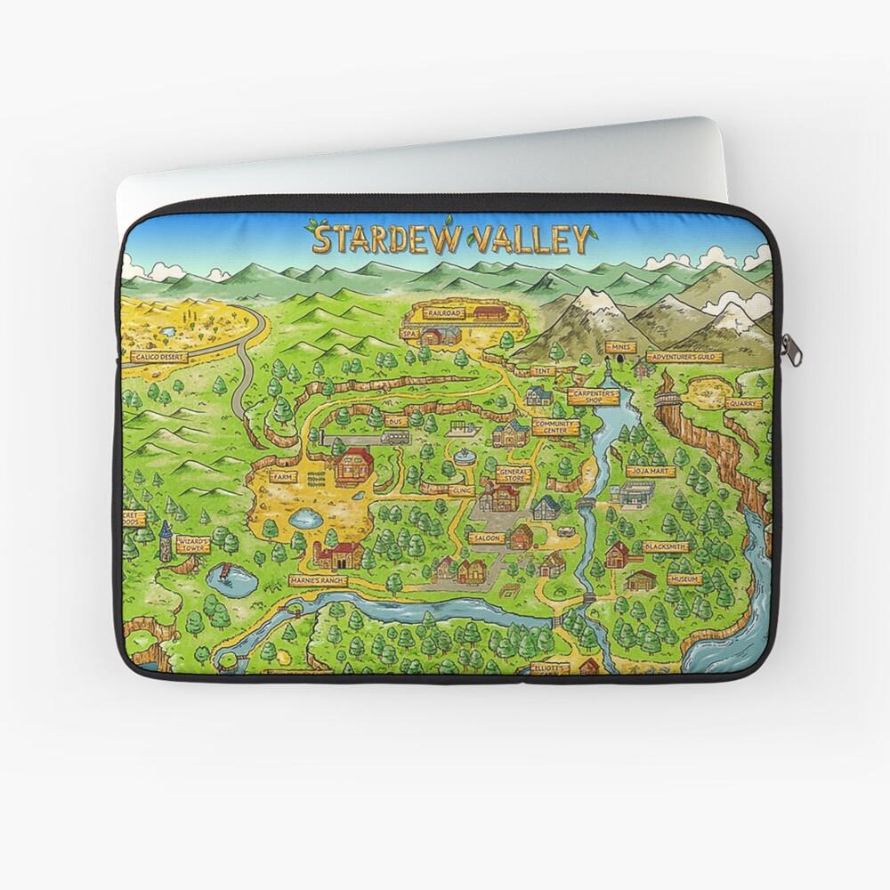 Stardew Valley Karte Laptoptasche
