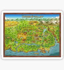 Stardew Valley Map Sticker