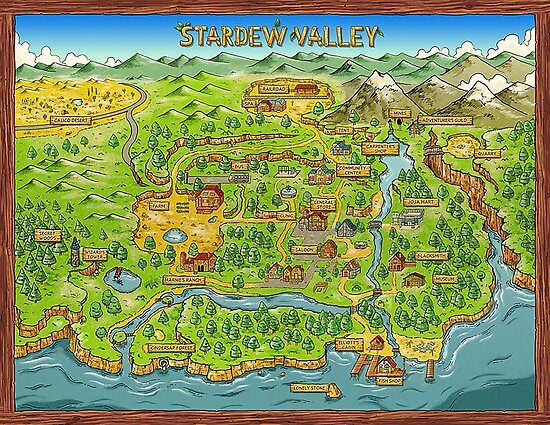 Quot Stardew Valley Map Quot Poster By Ccb9951 Redbubble