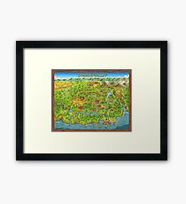 Stardew Valley Map Framed Print