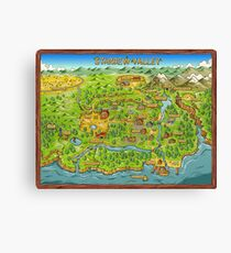Stardew Valley Map Canvas Print
