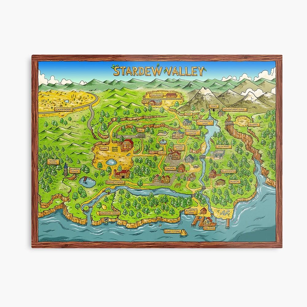 Stardew Valley Karte Metalldruck