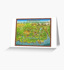 Stardew Valley Map Greeting Card