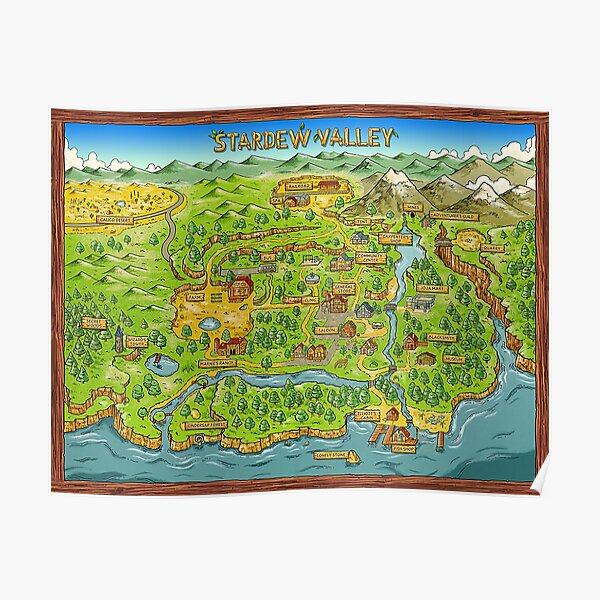 Stardew Valley Map Poster