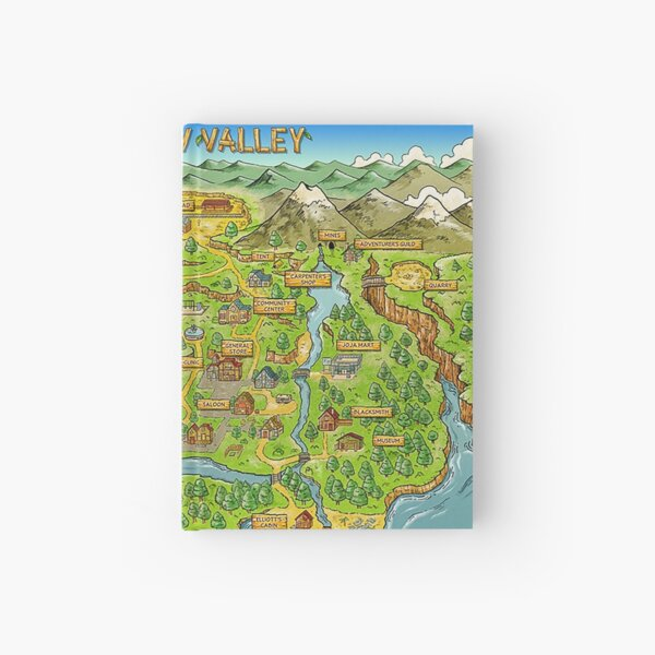 Stardew Valley Map Hardcover Journal