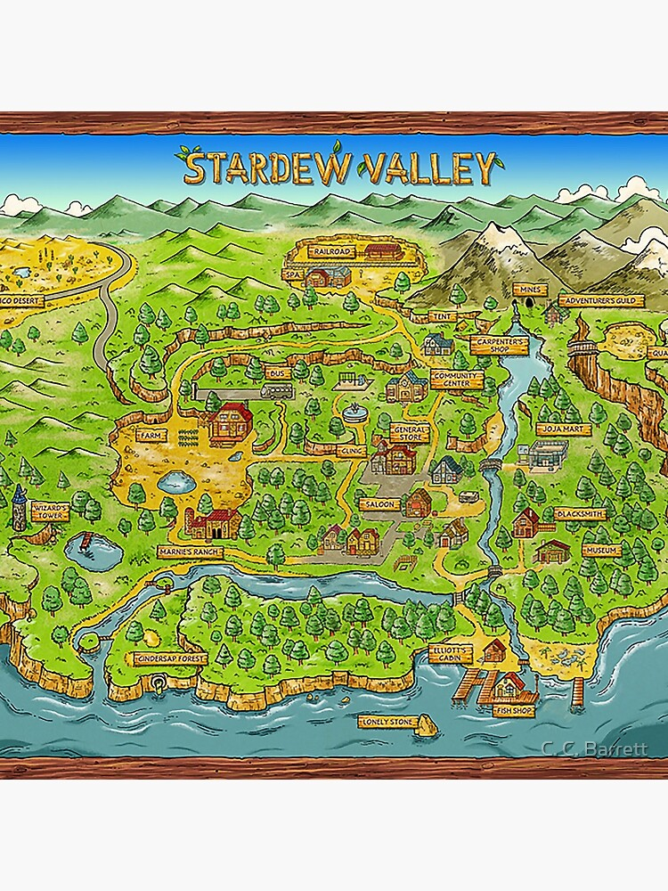 Stardew Valley Map by ccb9951