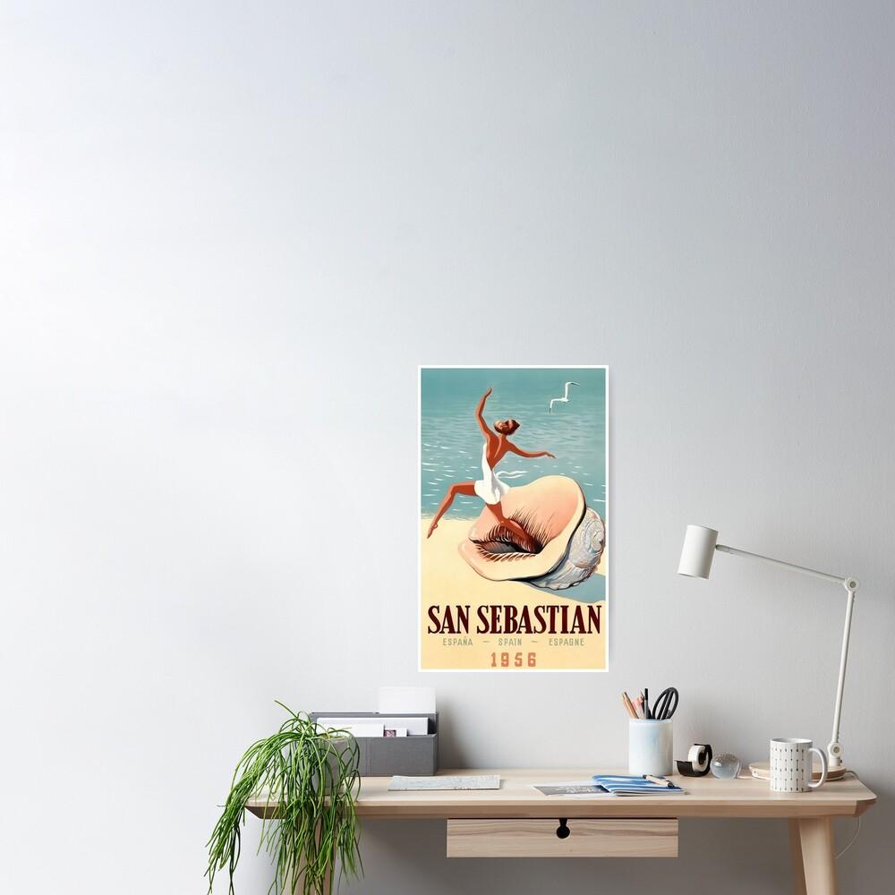 San Sebastian Spain Espana 1956 Travel Poster
