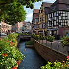Water Canal in Old Town of Colmar by Yair Karelic