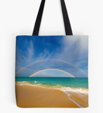 Double Rainbow Baldwin Beach Tote Bag