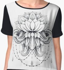 ornamental Lotus Women's Chiffon Top