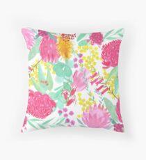 Australian Botanical Throw Pillow