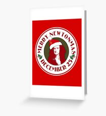 MERRY NEWTONMAS with Sir Isaac Newton Greeting Card
