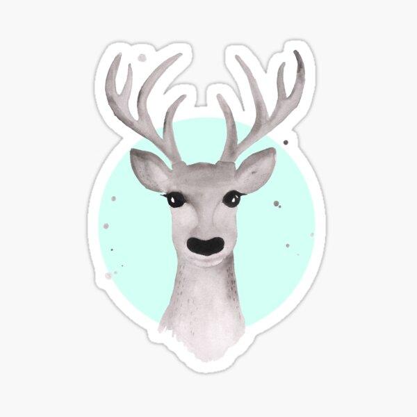 Deer Soft Grey - Mint Sticker